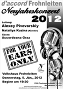Neujahrskonzert 'For your ears only'